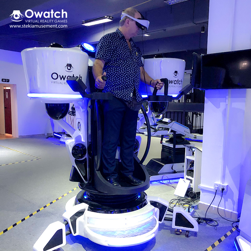 Standing VR Flight Simulator - Super Cool 360 Rotating - Owatch